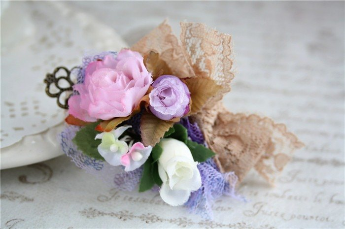 Romantic Flower Fairy flower fairy headdress hairpin lace bow rose the forest department