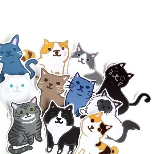 1212 fun design waterproof stickers funny stickers everywhere - cat comes