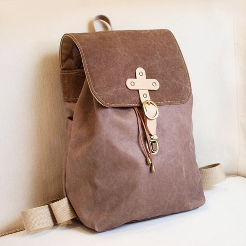 1pinfun after water repellent canvas backpack shoulder brown brown *