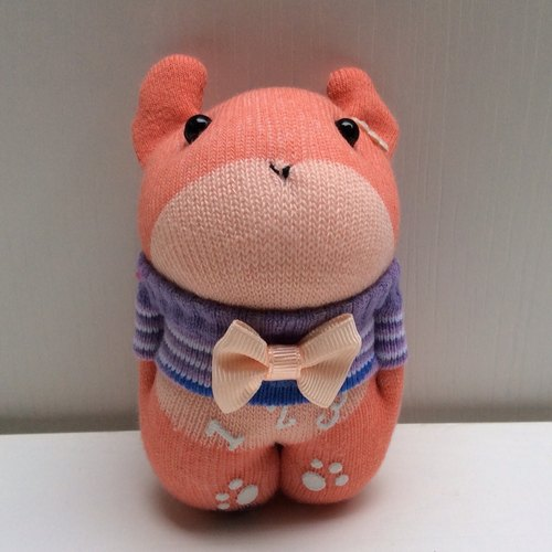 Kobayashi ~ Charm -A101 pink orange rabbit (socks doll)