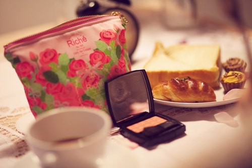 Riché Handmade Cosmetic Bag-Picnic Series-Pink Rose