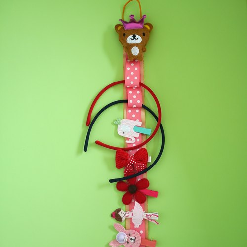 Children's hair accessories storage tape / wall decoration (Bear) Limited hand-made