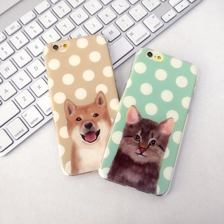 My Pets Cat Cyan 1 Dots (Right)  Print Soft / Hard Case for iPhone X,  iPhone 8,  iPhone 8 Plus, iPhone 7 case, iPhone 7 Plus case, iPhone 6/6S, iPhone 6/6S Plus, Samsung Galaxy Note 7 case, Note 5 case, S7 Edge case, S7 case