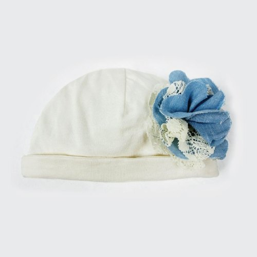 Handsome little lady flower organic cotton baby cowboy hat