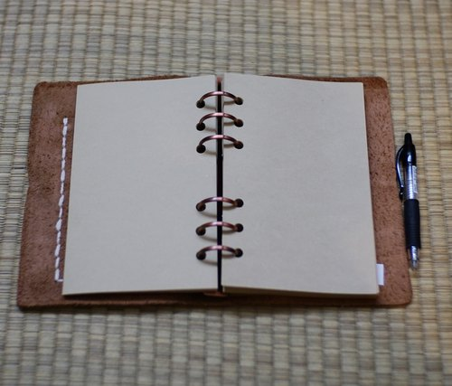 Letters time / hand-stitched leather notebook