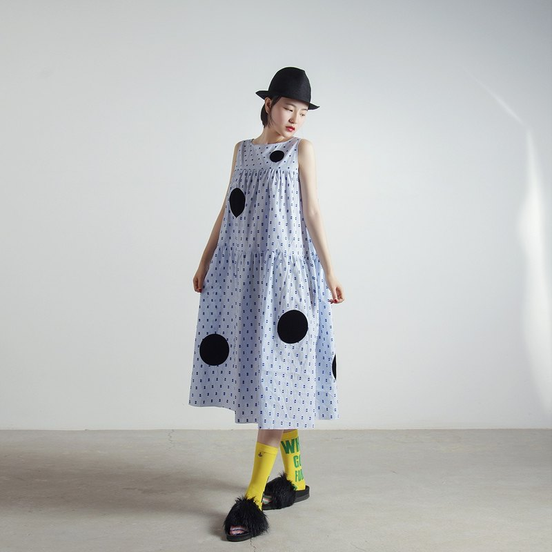 Mr. HI blue striped dress - imakokoni