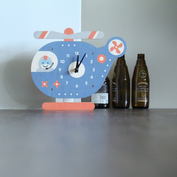 Modern moose-3D wall clock- chopper clock
