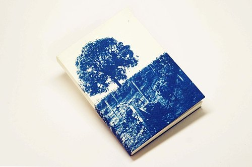Handmade cyanotype Notebook - vineyards