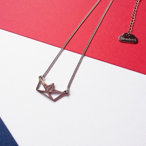 Smooth sailing boat necklace