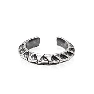 Snake Bone Ring (Black Silver)