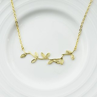 Little branch (k gold plated necklace) - C percent handmade jewelry