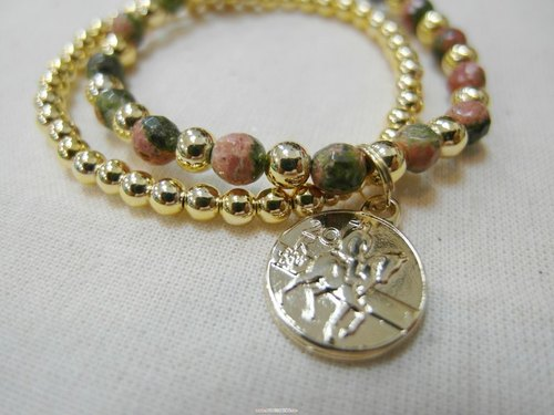 ~ M + Bear ~ jade bracelet bicyclic ▪ Cheng coffee line
