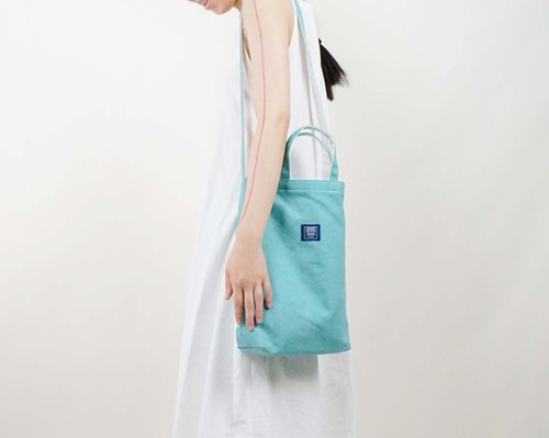 ::Bangstree:: two-colored reversible canvas bag -TiffanyGreen+White