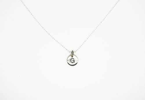 Silver optional clavicle chain letters