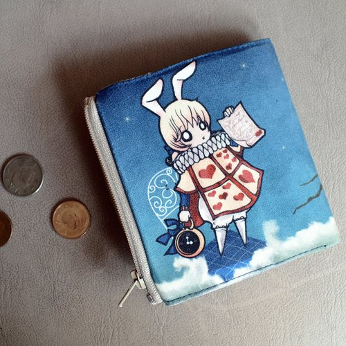 ZoeL * * Short Wallet edict declared Alice White Rabbit White Rabbit * original illustrations