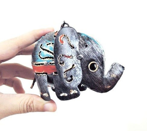 Elephants long nose being spirited animal ornaments silver ornaments elephant