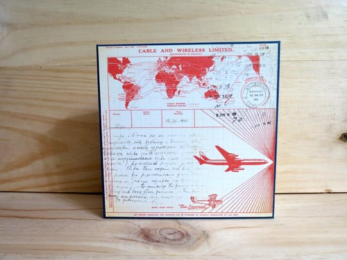 Miss crocodile handmade books French Stitch A --- FRSA055 aircraft