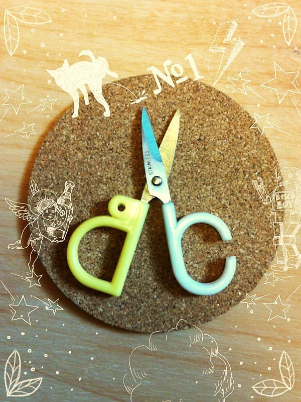 {People Tutu's Collection} A,B,C,D 告嘎低(狗咬豬) -Alphabet Scissors