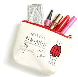 BENJAMIN Polar bear cosmetic bag CARROT