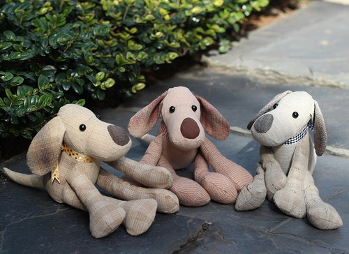 Lazy Brook three brothers hand-made dog <three group> - hand-made material package