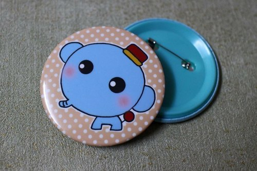 Play not tired _ greatly badge (Blue Elephant)