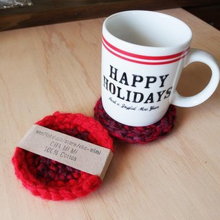 Cha mimi. Handmade groceries. Nordic cranberry cookies thick crocheted coasters