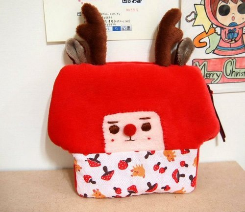 Christmas Edition chestnut mushroom purse
