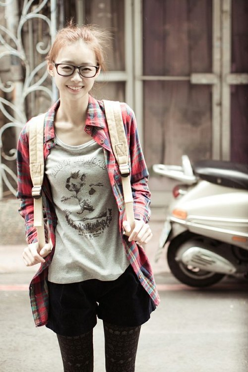 SUMI ♥ Dog King law ♥ female models fit fighting dogs Elastic cannabis gray long-sleeved shirt _2AF007_