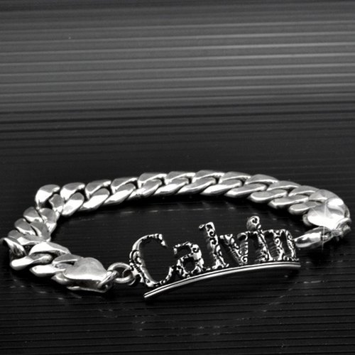 Customized .925 sterling silver jewelry BRC00038- thick chain bracelet