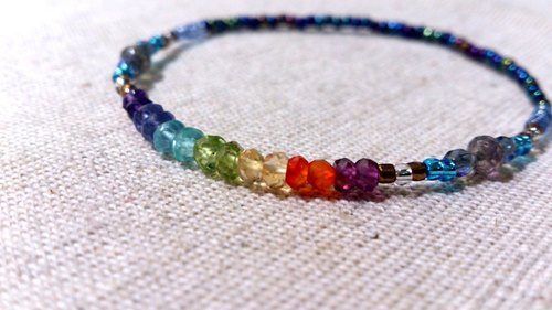 crystal in dearsharka || colorful crystal x labradorite. A touch of brilliant rainbow