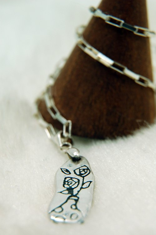 Peekaboo handmade silver sterling silver necklace (small vase)