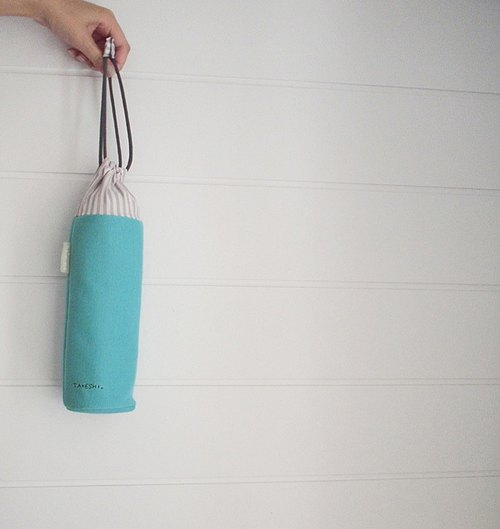 hairmo. Color beam port kettle insulation bag (blue-green)