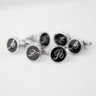Exclusive orders - English letters cufflinks
