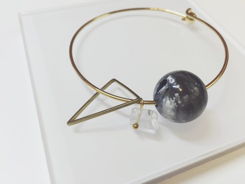 Marygo ﹝ triangle universe white gold bracelet crystal ﹞
