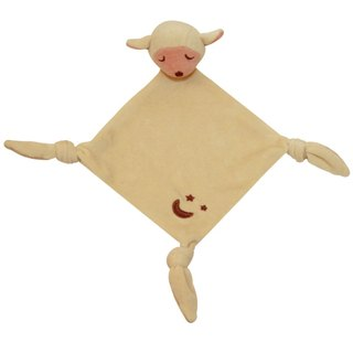 US MyNatural organic cotton Goodnight series appease towel - cream lamb