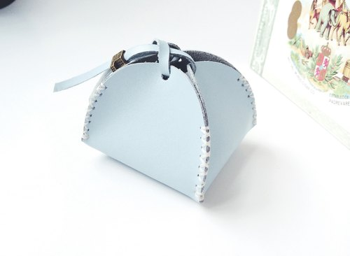 Zemoneni Leather purse all purpose for coin in Light blue color