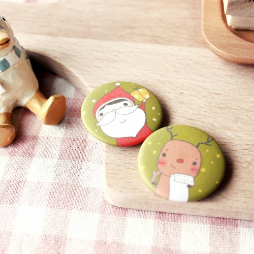 [Christmas] friends the best partner small magnets │ Christmas