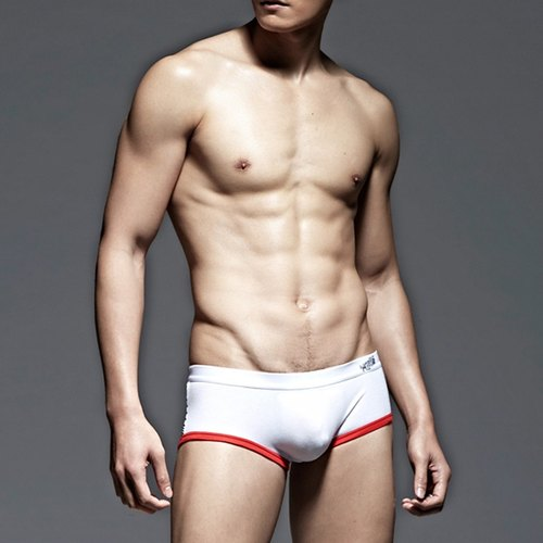 UNDERNEXT2 red sports low-waist briefs