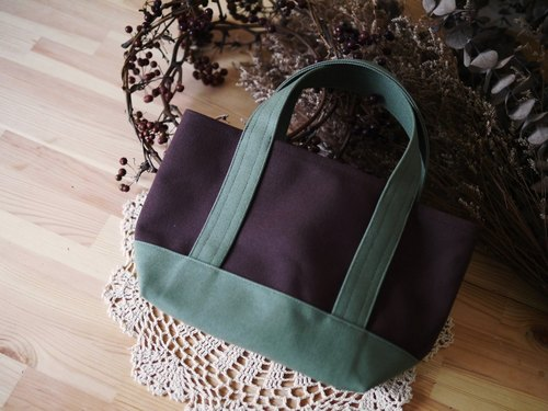 Classic Tote Ssize coffee x olive - olive green coffee x -