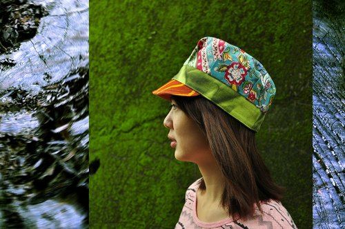 N PEACH ST 2014 Spring New Products - sided reported bonnet -Woodblock printing handmade batik woodblock printing XBatik