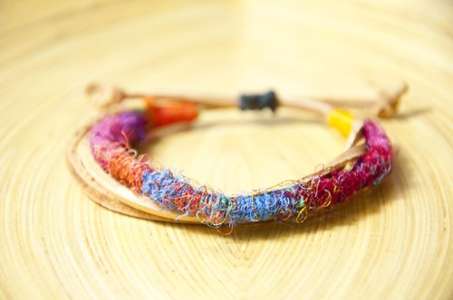 Sari feel leather bracelet minimalism