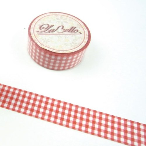 LaBelle series - red plaid design section []