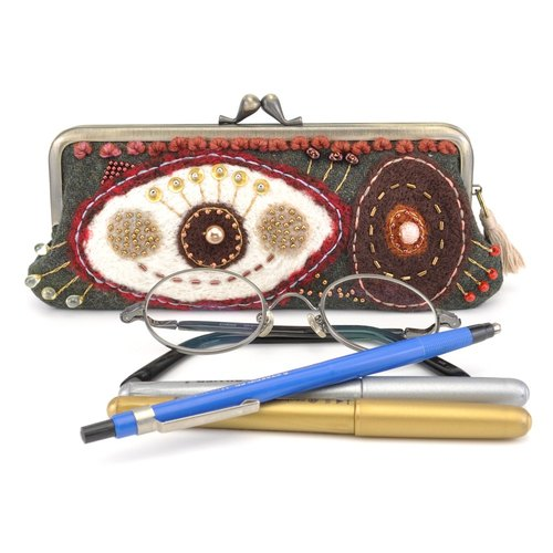 Glasses case pen case purse (14)