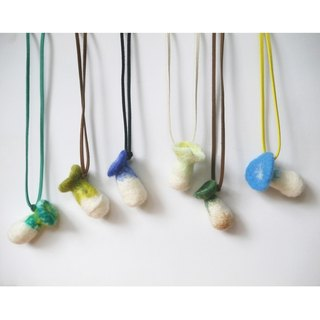 Rainy season suddenly all kinds of mushrooms raw mushrooms wool felt necklace > > > (may be changed to a key ring or strap) handmade custom section