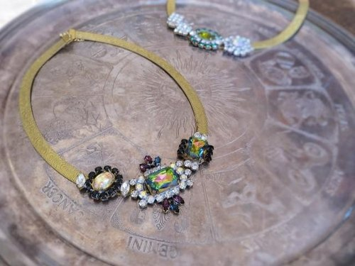 Vintage bijoux necklace vintage necklace <MS-RB8>