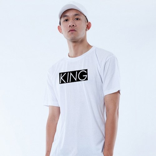 "Icarus ICARUS original fashion design short TEE King and Queen series - ""KING King"""