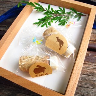 [Stock goods] handmade rubber stamp - Christmas wine stoppers (Kangaroo)