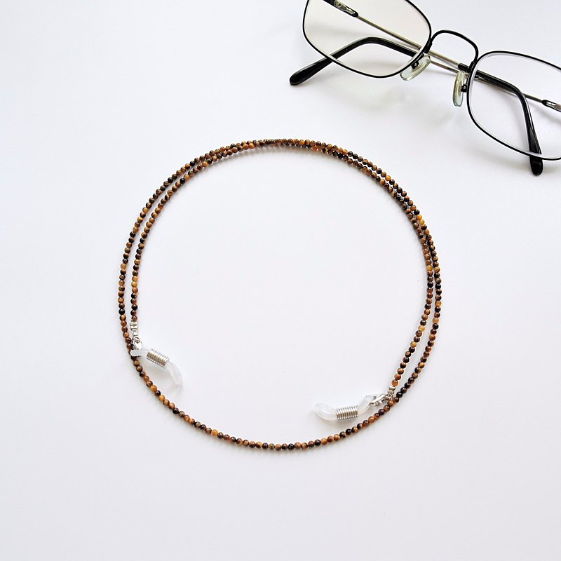 Tigers Eye Beaded Eyeglasses Holder Chain - Gift for Mom & Dad