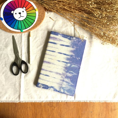 Hand-dyed tie-dye tie dyed canvas cover notebook
