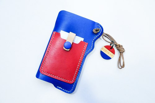 "Manufacturing ""Red White Blue"" Hong Kong iPhone6 ​​leather cell phone pocket"